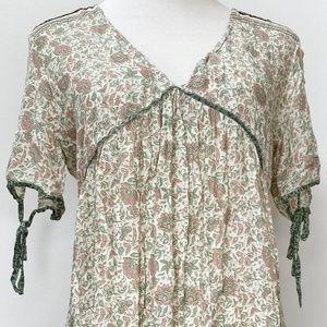 Indian Summer Co Short Boho Sheer Dress, size XS